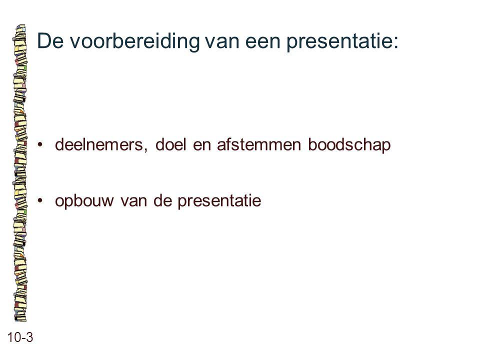De voorbereiding van een presentatie: