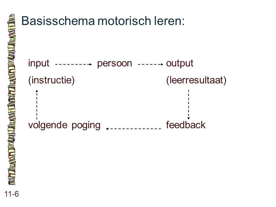 Basisschema motorisch leren: