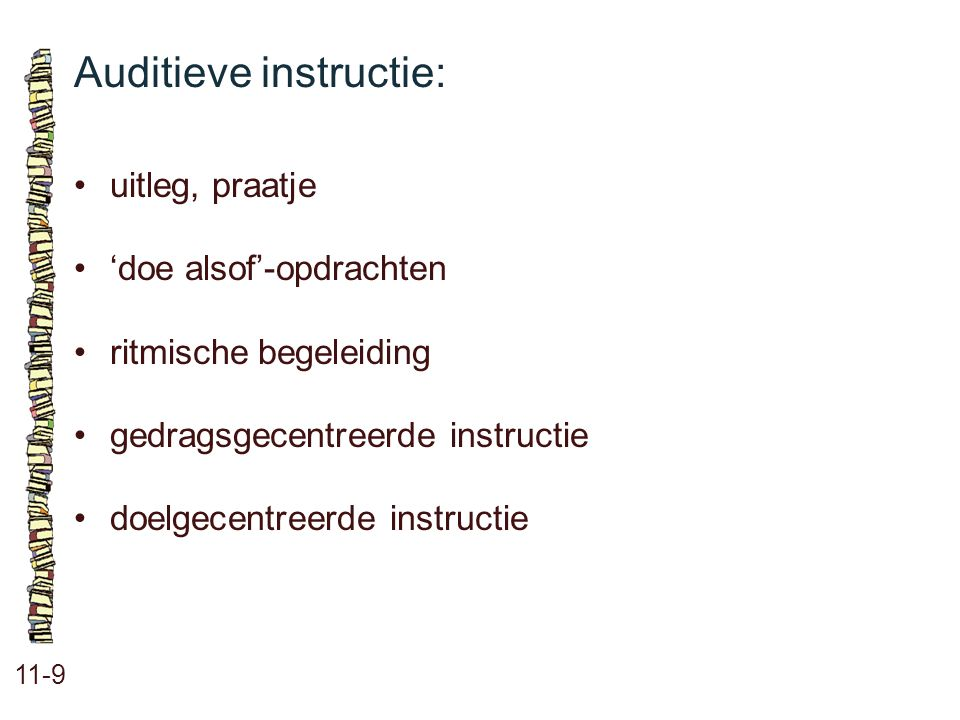Auditieve instructie: