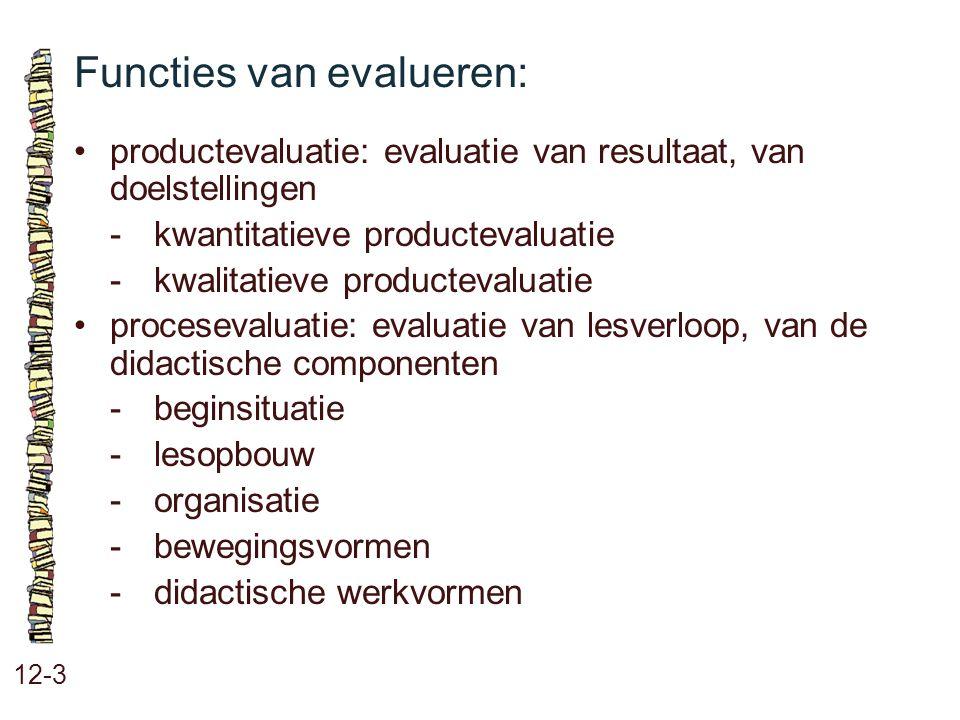 Functies van evalueren: