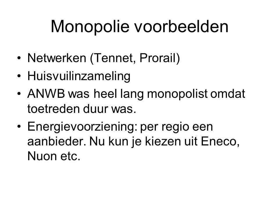 Monopolie voorbeelden