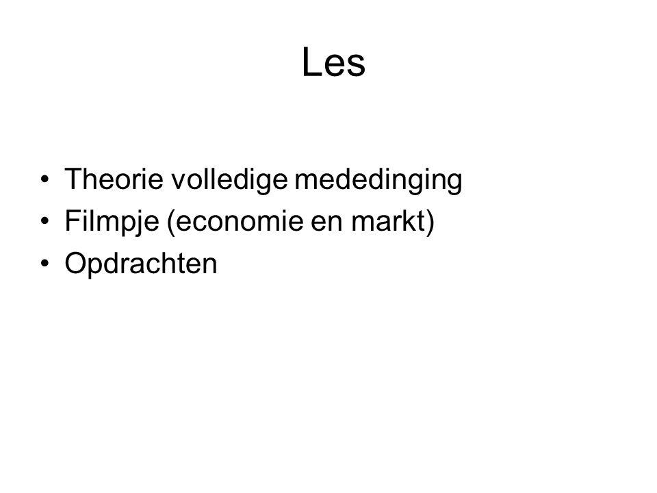 Les Theorie volledige mededinging Filmpje (economie en markt)