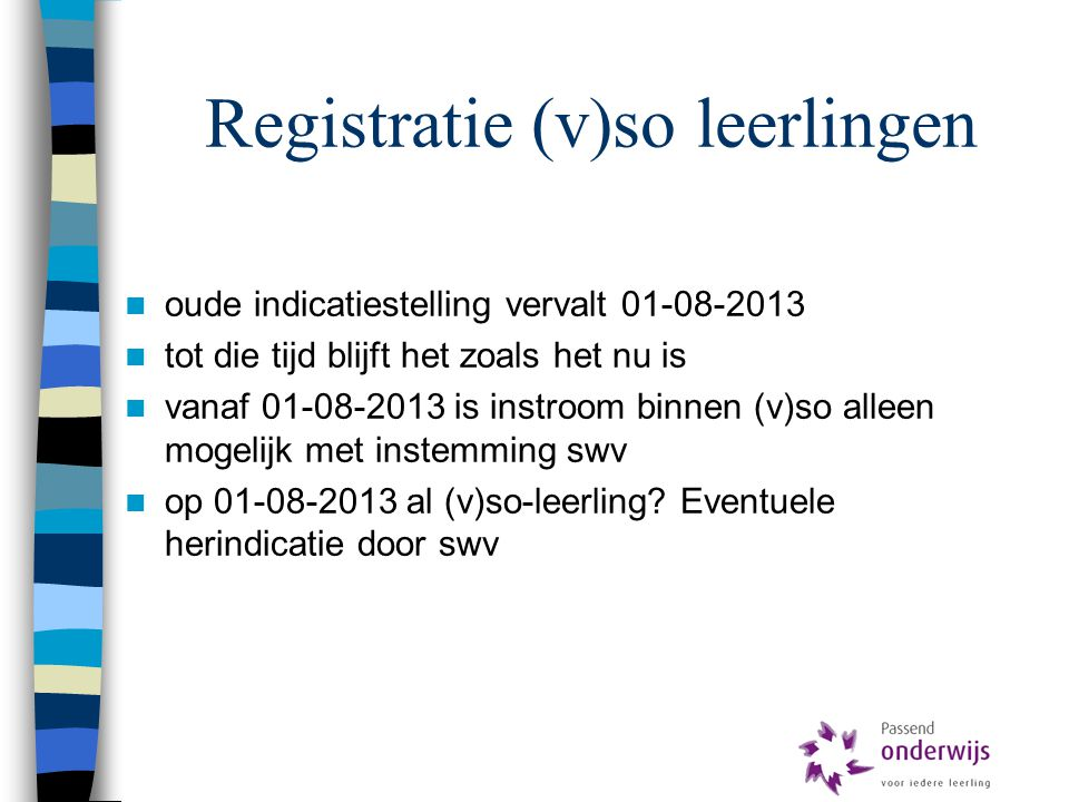 Registratie (v)so leerlingen