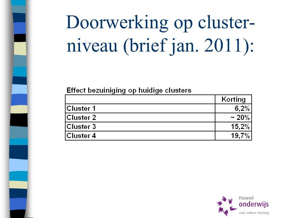 Doorwerking op cluster-niveau (brief jan. 2011):