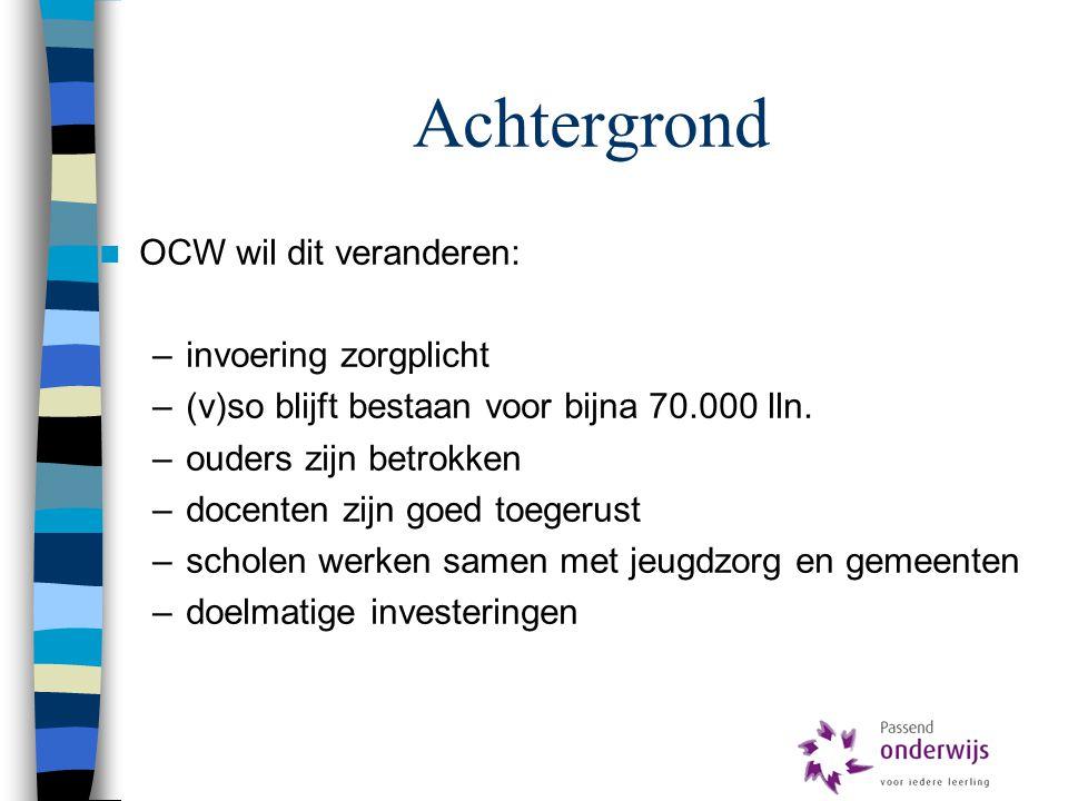 Achtergrond OCW wil dit veranderen: invoering zorgplicht