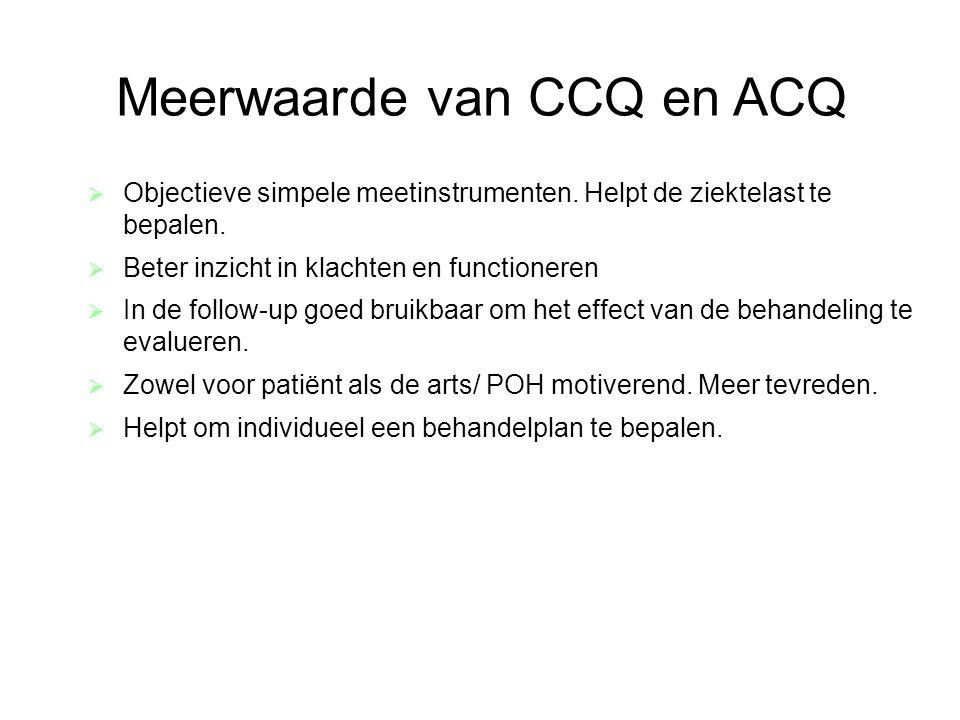 Meerwaarde van CCQ en ACQ