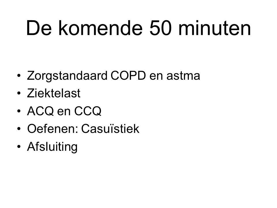 De komende 50 minuten Zorgstandaard COPD en astma Ziektelast