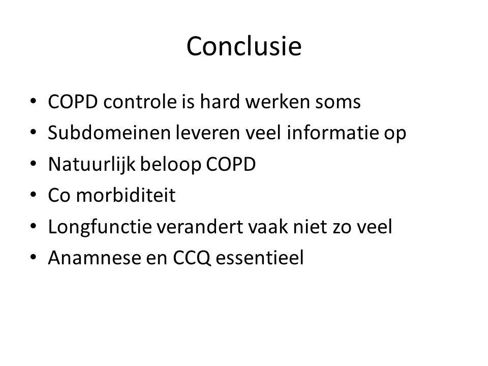 Conclusie COPD controle is hard werken soms