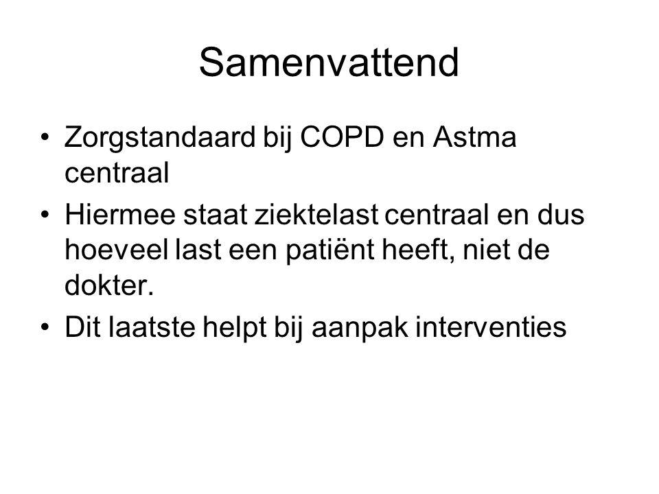 Samenvattend Zorgstandaard bij COPD en Astma centraal