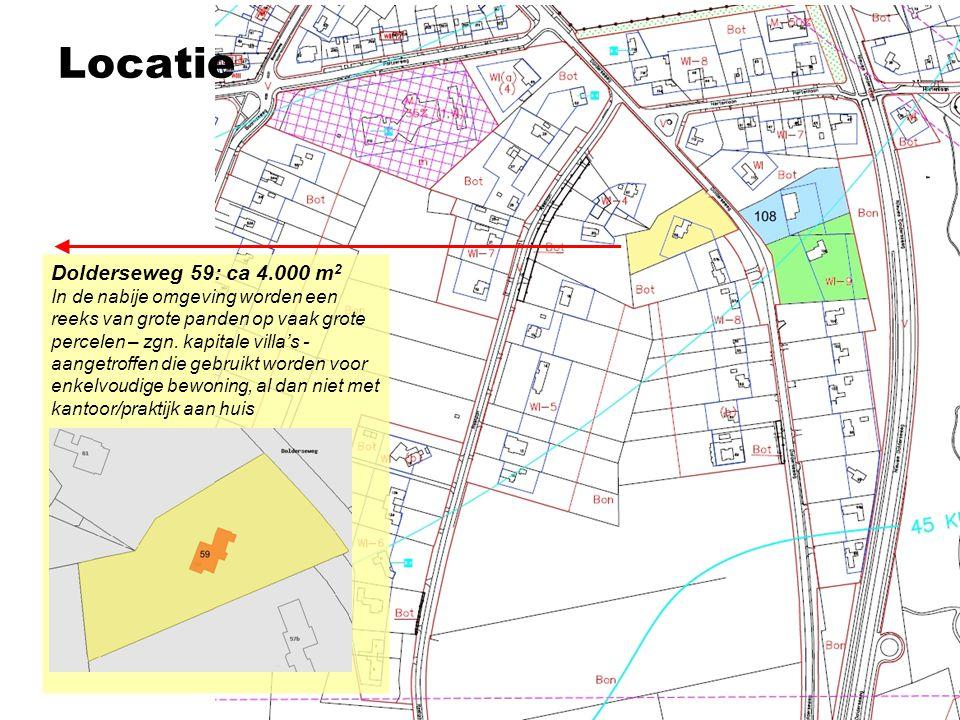 Locatie Dolderseweg 59: ca 4.000 m2
