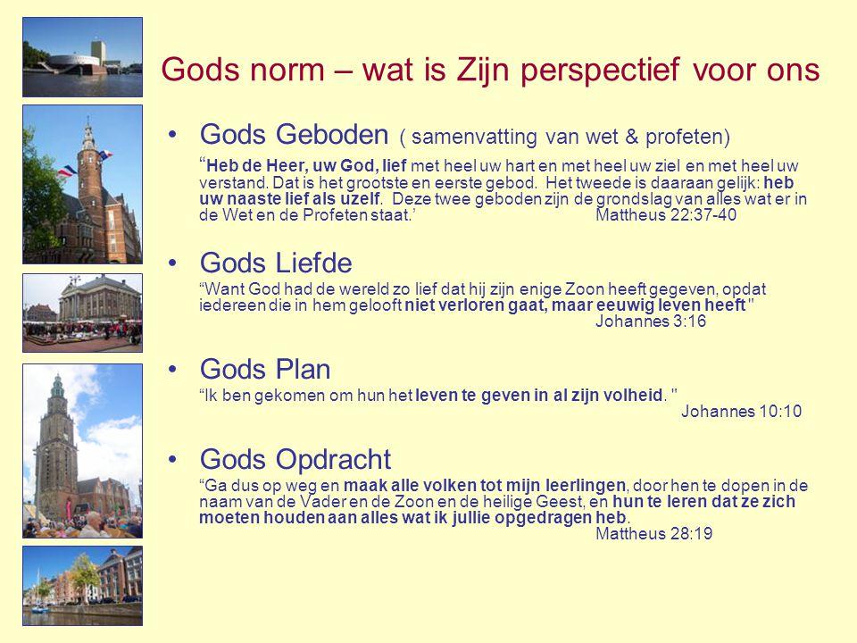Gods norm – wat is Zijn perspectief voor ons
