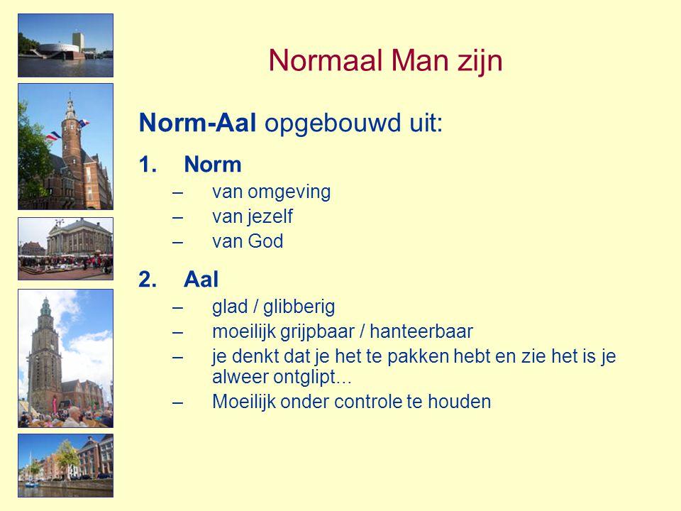 Normaal Man zijn Norm-Aal opgebouwd uit: Norm Aal van omgeving