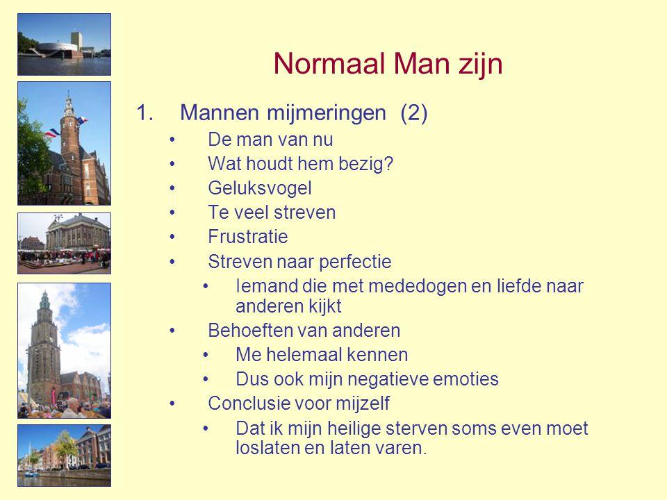 Normaal Man zijn Mannen mijmeringen (2) De man van nu