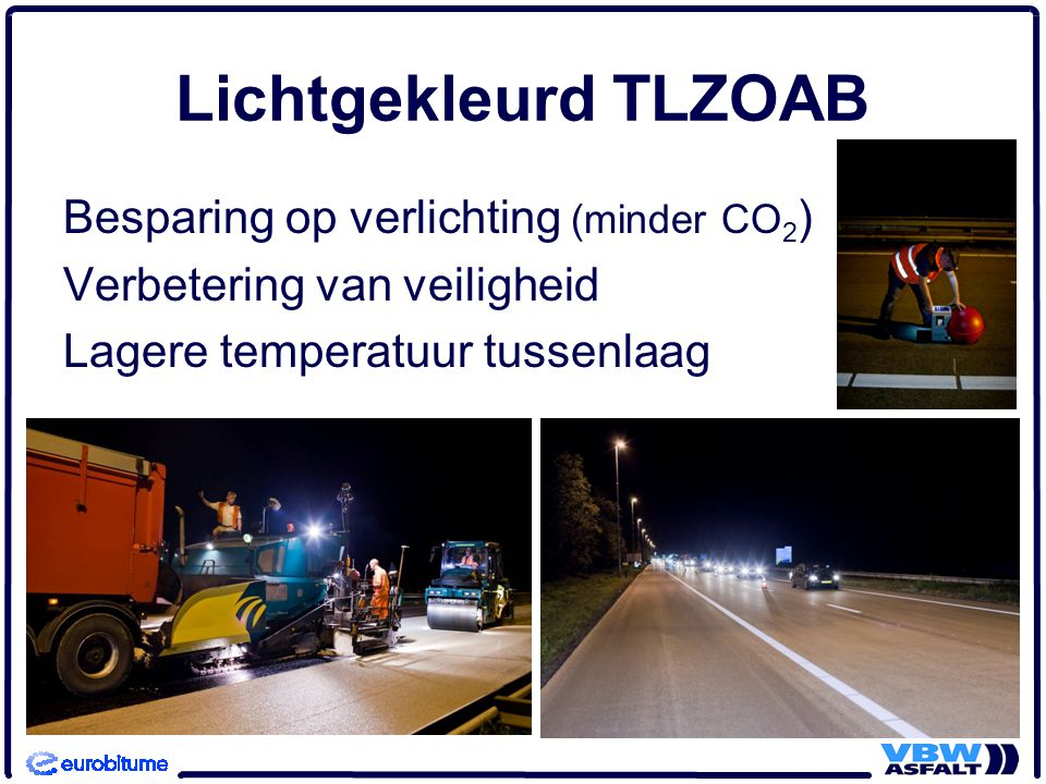 Lichtgekleurd TLZOAB Besparing op verlichting (minder CO2)