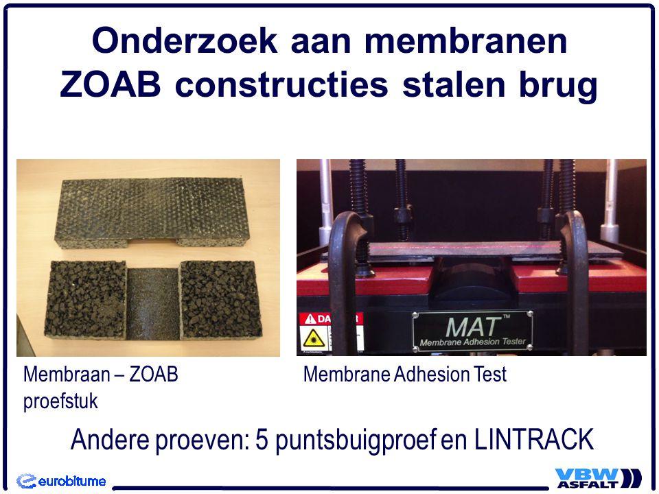 Onderzoek aan membranen ZOAB constructies stalen brug