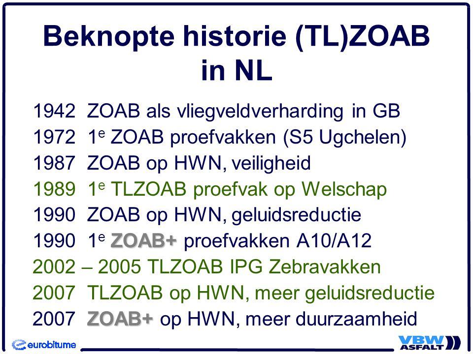 Beknopte historie (TL)ZOAB in NL
