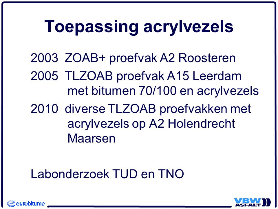 Toepassing acrylvezels