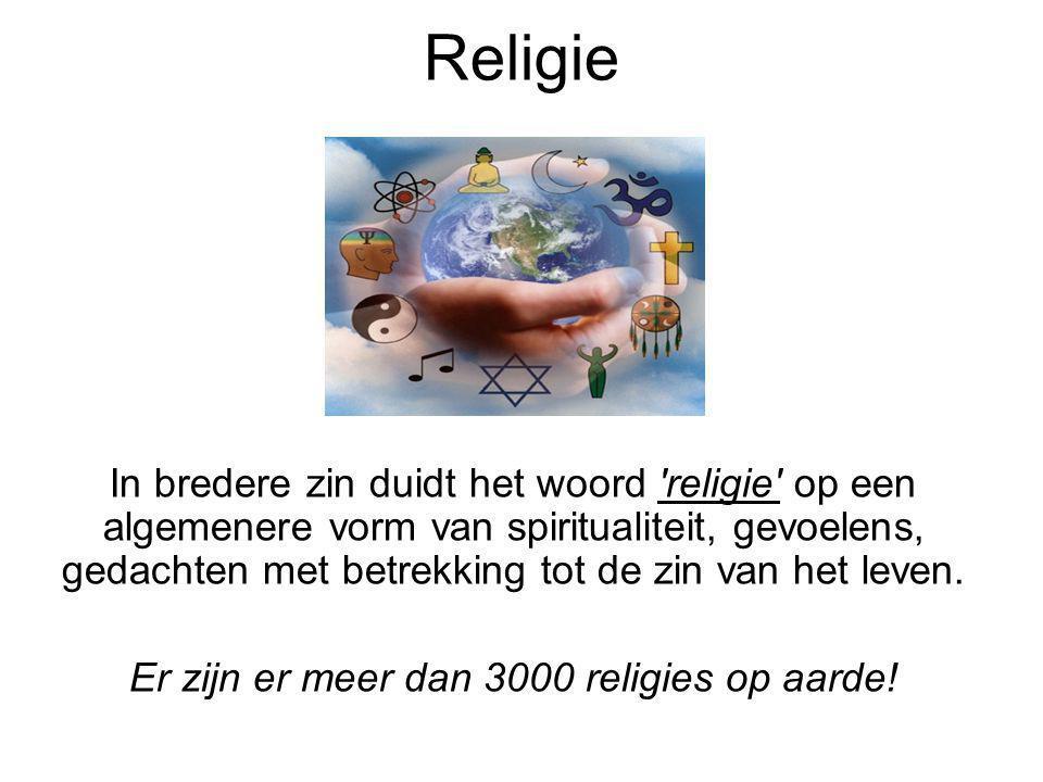 Er zijn er meer dan 3000 religies op aarde!