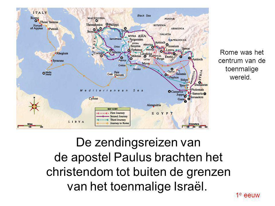 Rome was het centrum van de toenmalige wereld.