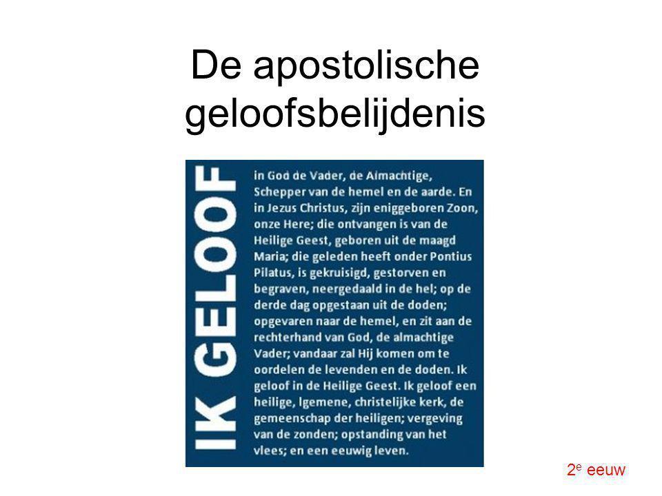 De apostolische geloofsbelijdenis