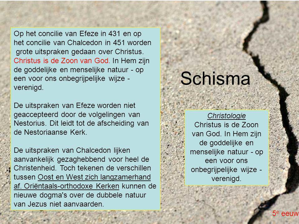 Op het concilie van Efeze in 431 en op het concilie van Chalcedon in 451 worden