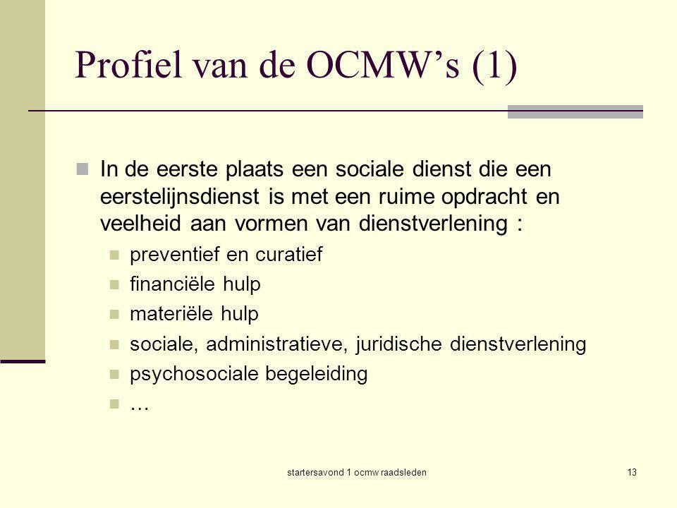 Profiel van de OCMW's (1)