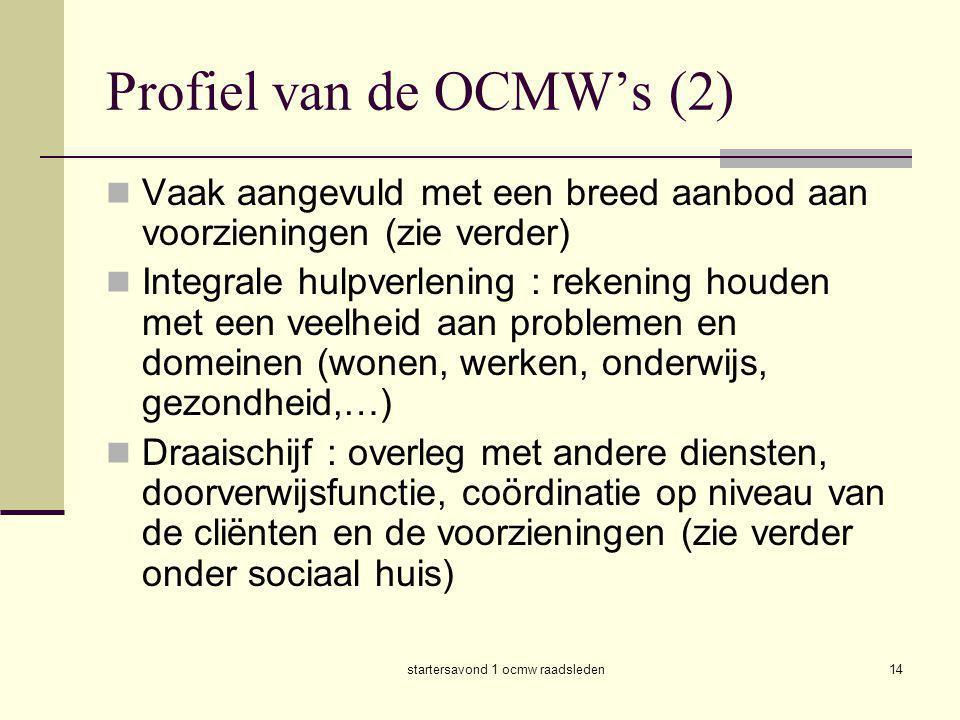 Profiel van de OCMW's (2)