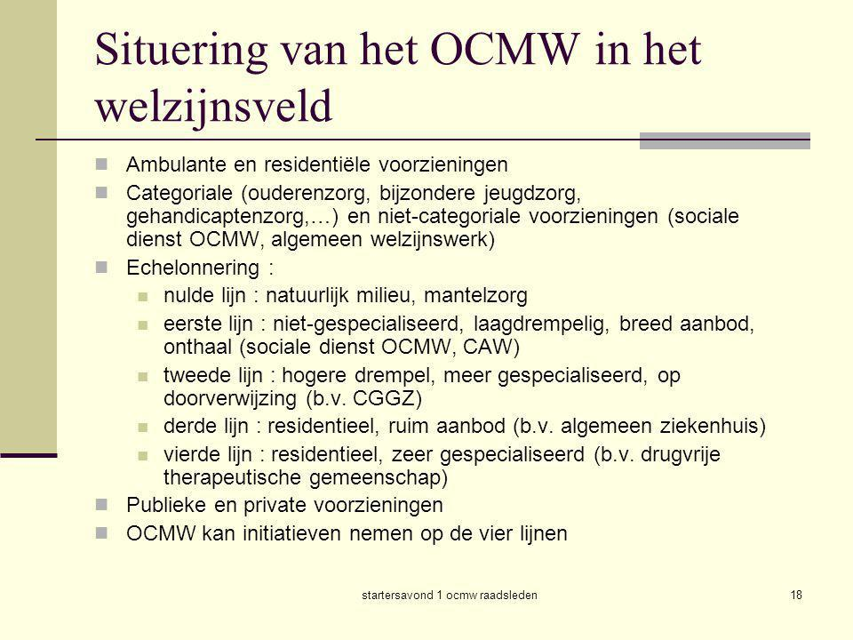 Situering van het OCMW in het welzijnsveld