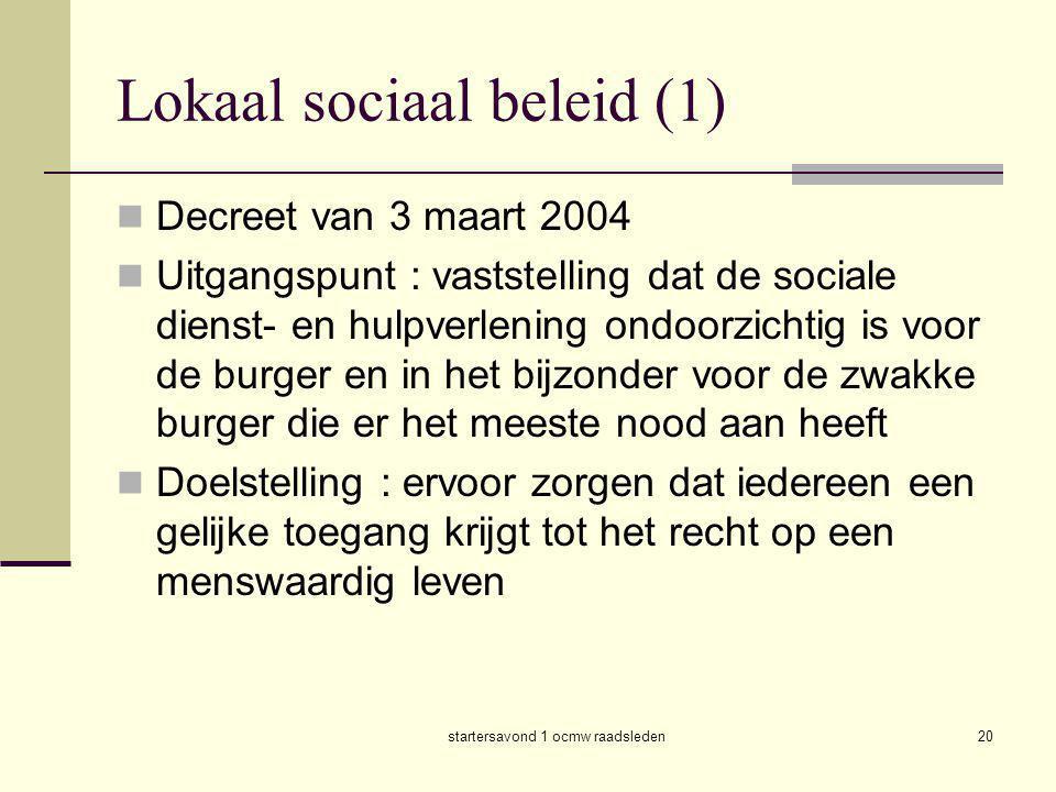 Lokaal sociaal beleid (1)
