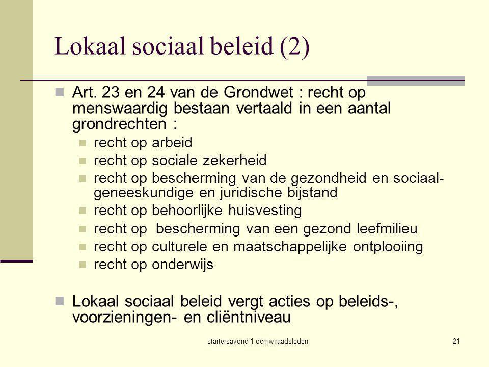 Lokaal sociaal beleid (2)