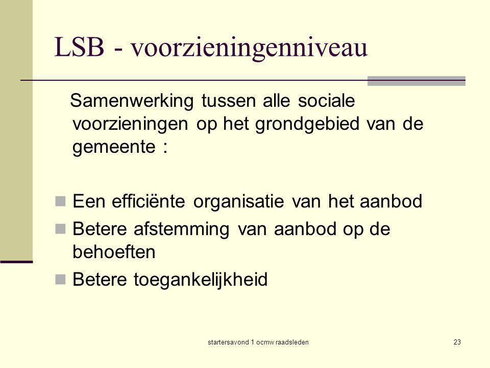 LSB - voorzieningenniveau