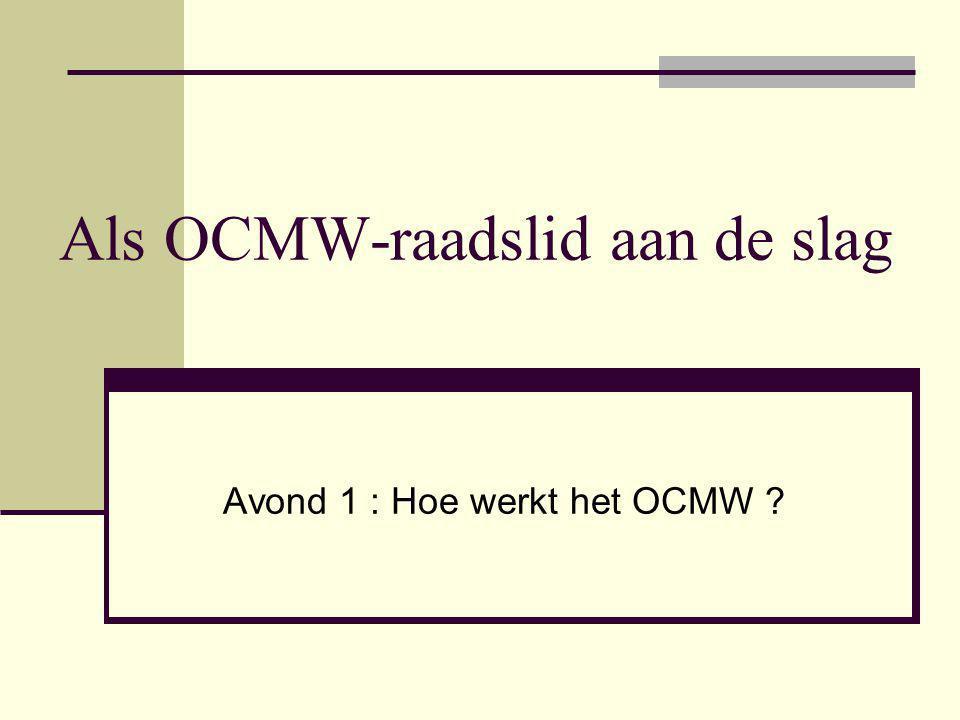 Als OCMW-raadslid aan de slag