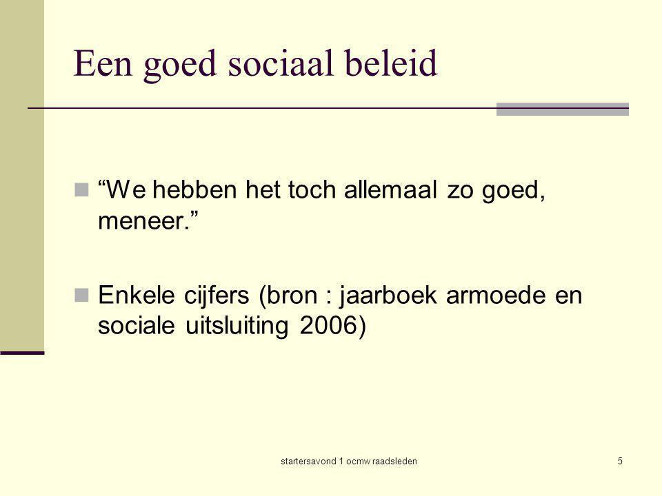 Een goed sociaal beleid