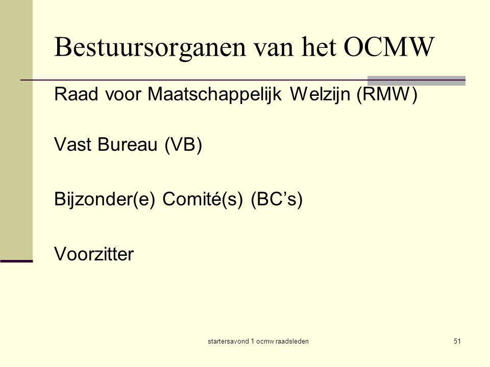 Bestuursorganen van het OCMW
