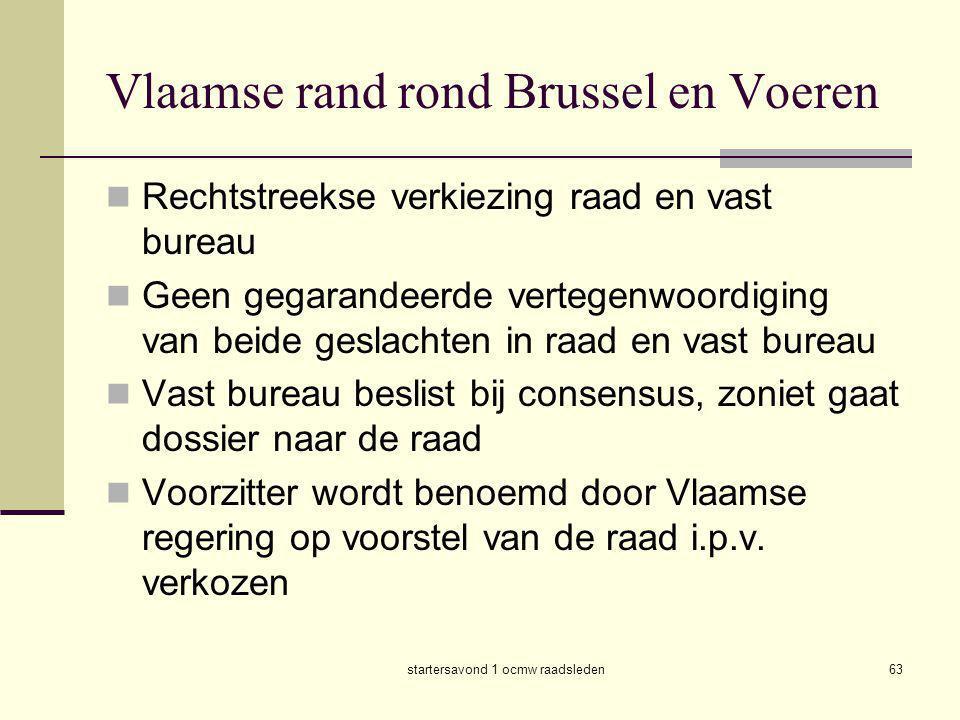 Vlaamse rand rond Brussel en Voeren