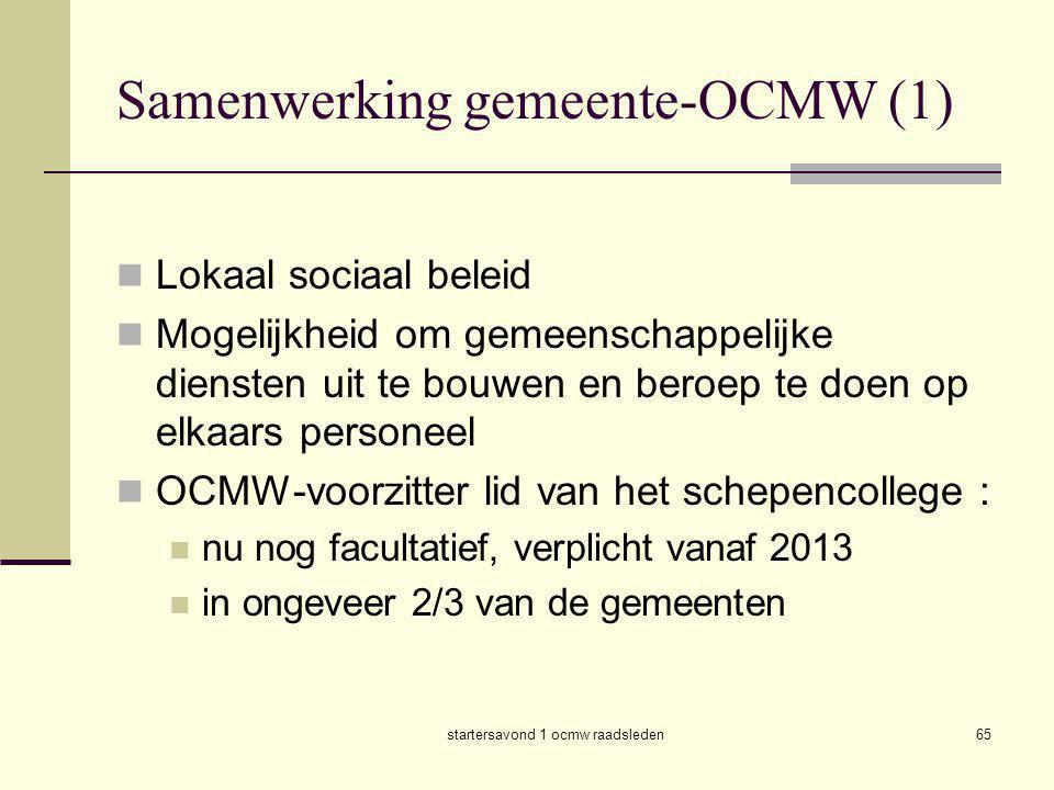 Samenwerking gemeente-OCMW (1)