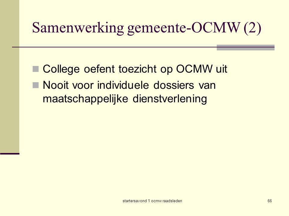 Samenwerking gemeente-OCMW (2)