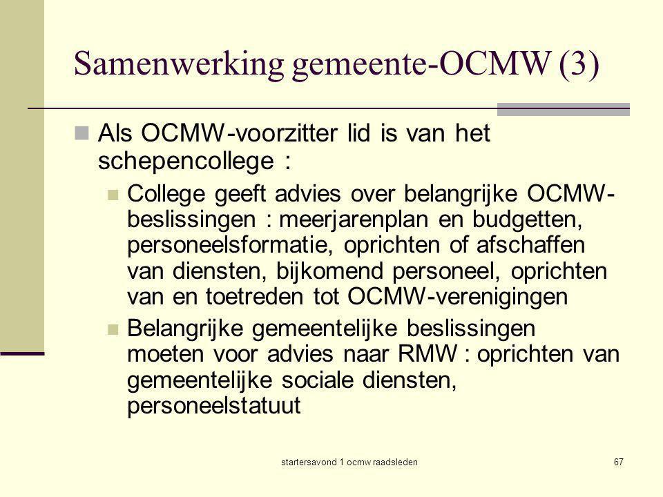 Samenwerking gemeente-OCMW (3)