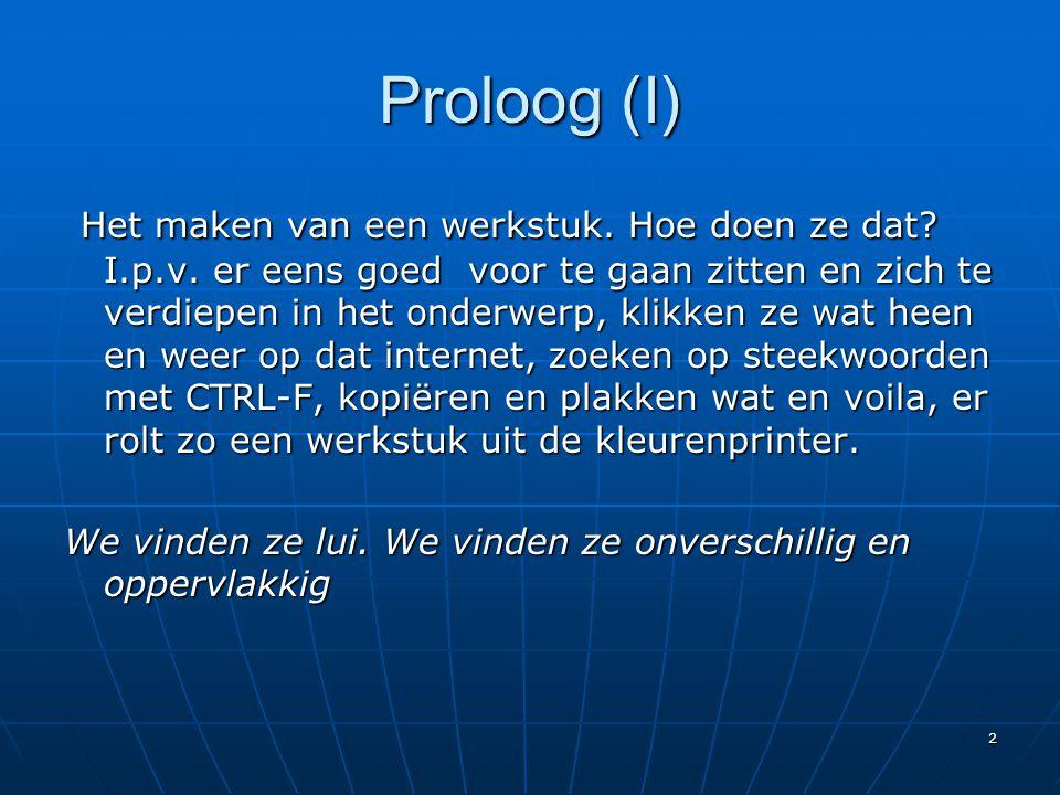 Proloog (I)
