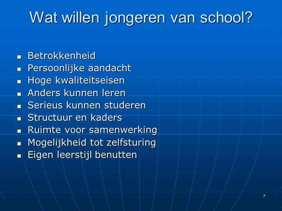 Wat willen jongeren van school