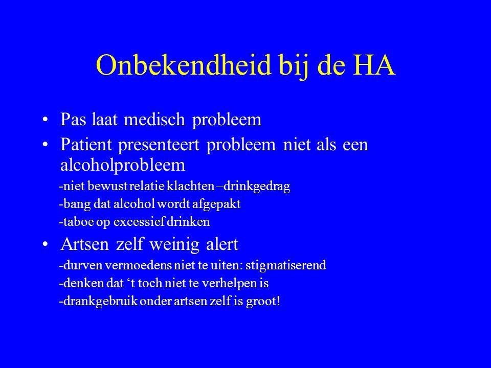 Onbekendheid bij de HA Pas laat medisch probleem