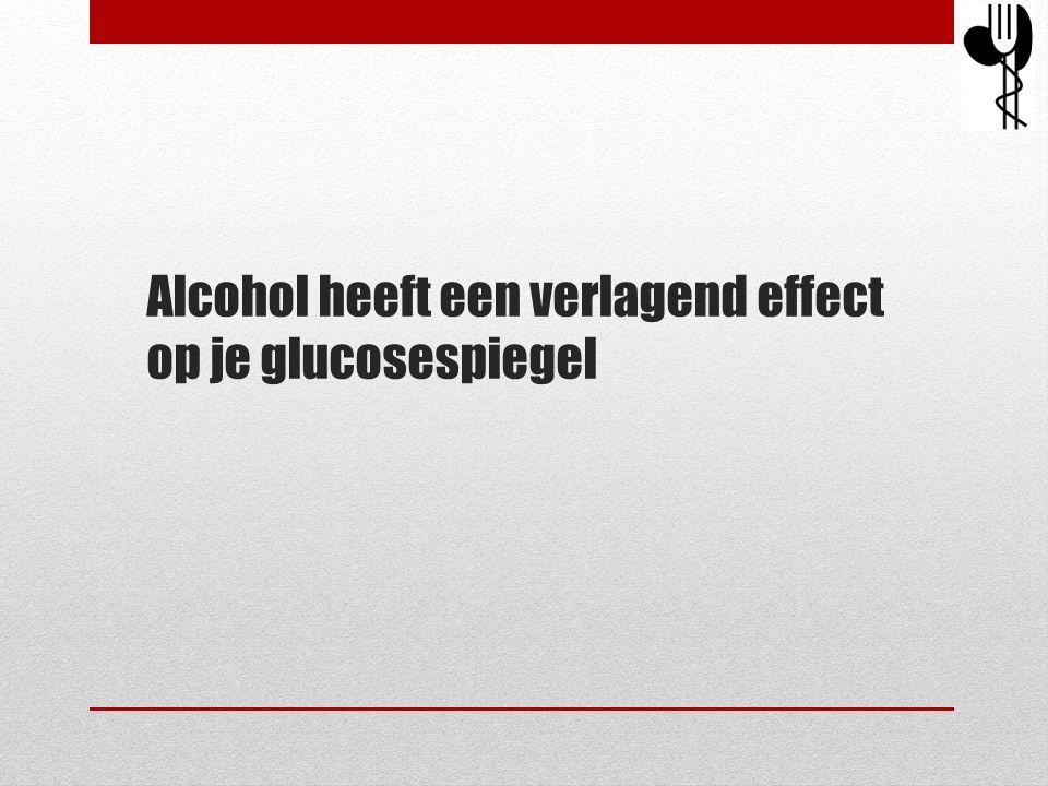 Alcohol heeft een verlagend effect op je glucosespiegel