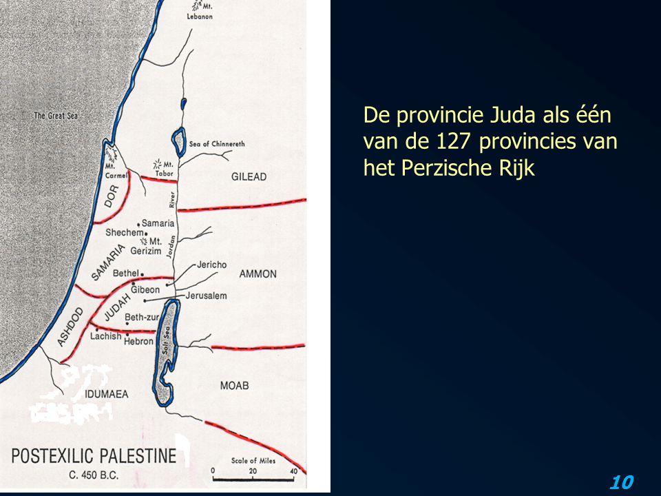 De provincie Juda als één van de 127 provincies van het Perzische Rijk