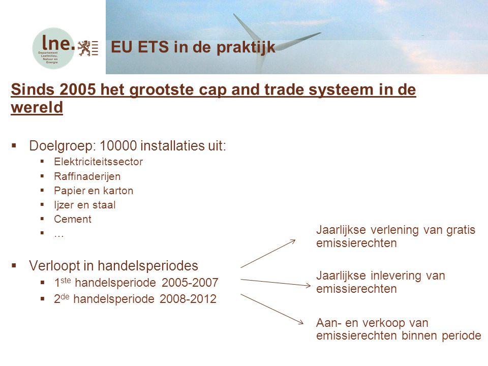 Sinds 2005 het grootste cap and trade systeem in de wereld