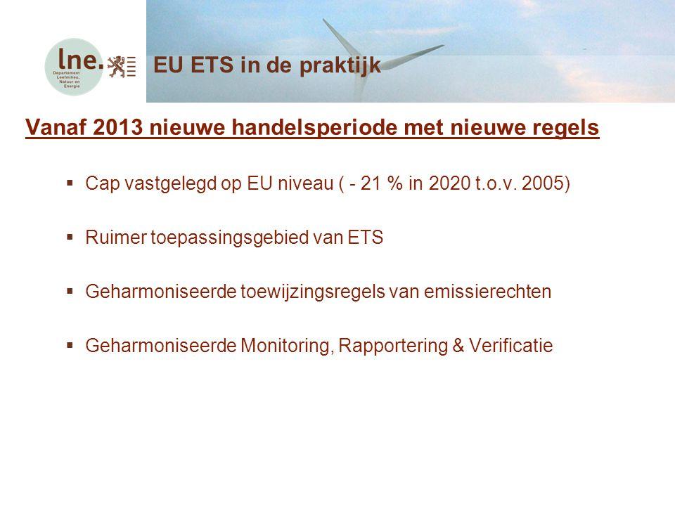 Vanaf 2013 nieuwe handelsperiode met nieuwe regels