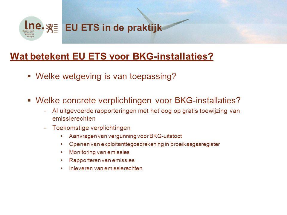 Wat betekent EU ETS voor BKG-installaties