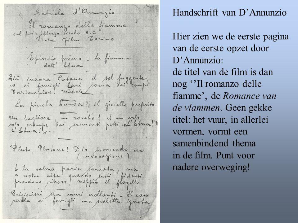 Handschrift van D'Annunzio