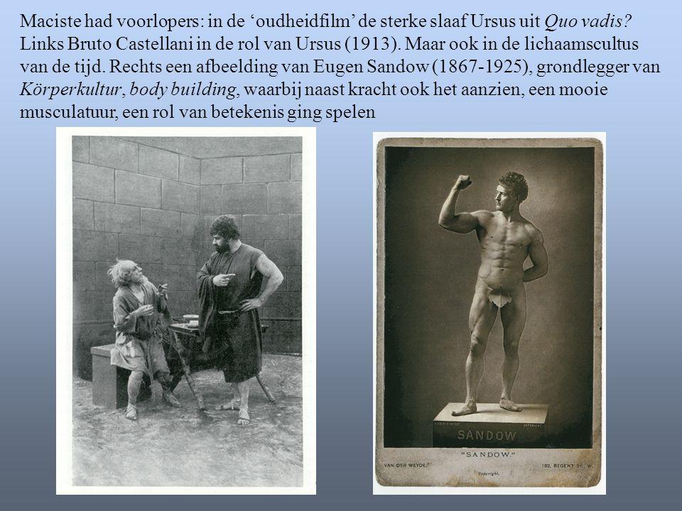 Maciste had voorlopers: in de 'oudheidfilm' de sterke slaaf Ursus uit Quo vadis.