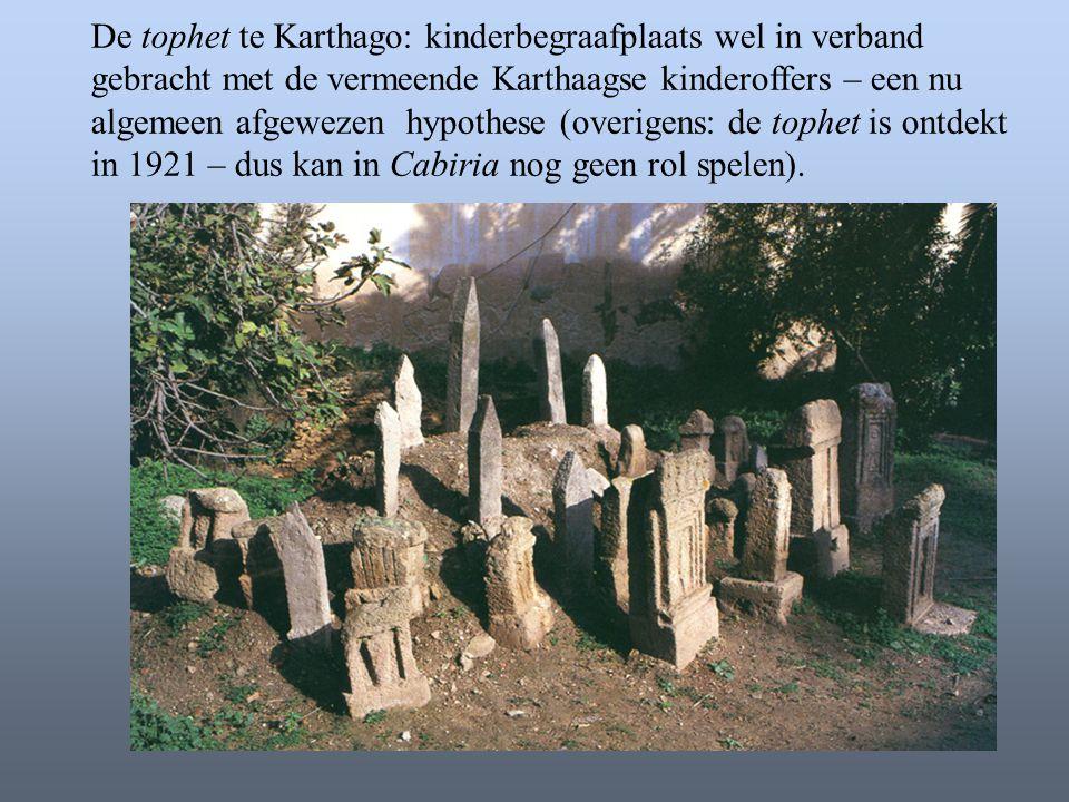 De tophet te Karthago: kinderbegraafplaats wel in verband