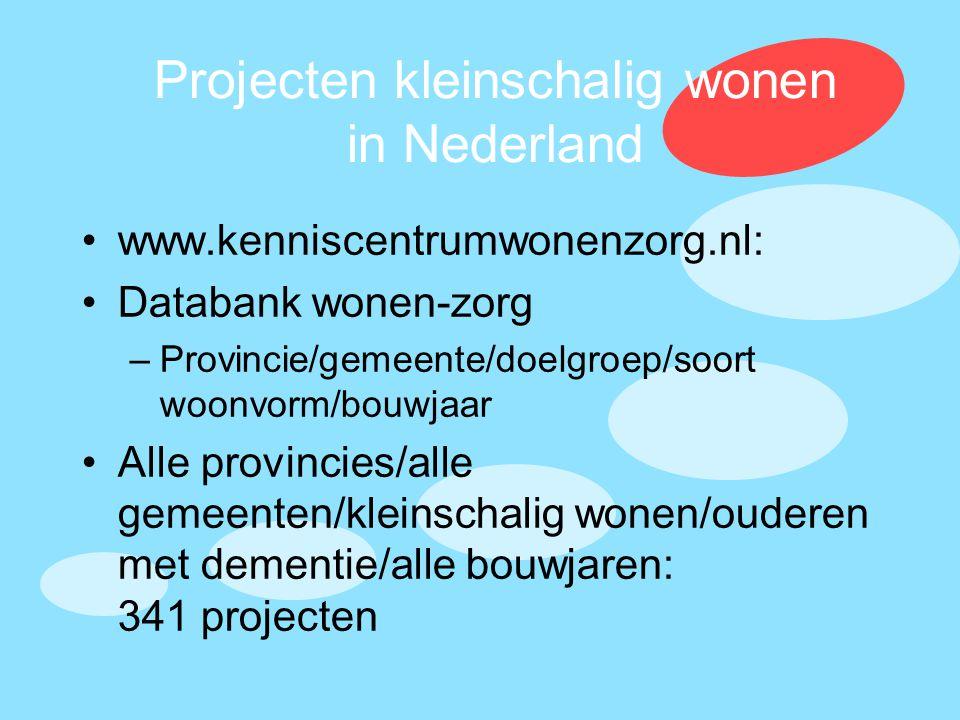 Projecten kleinschalig wonen in Nederland